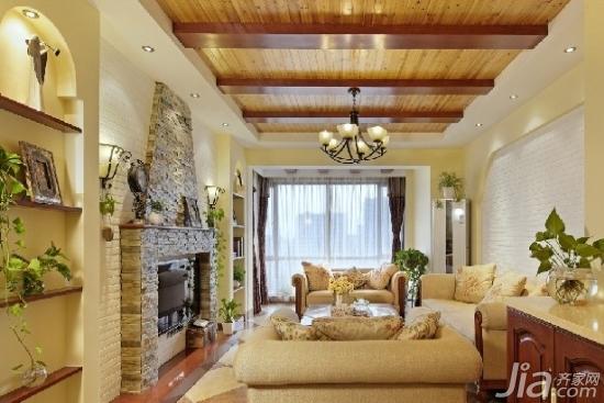 现代复式客厅吊顶装修效果图