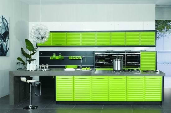 大气绿色橱柜订做