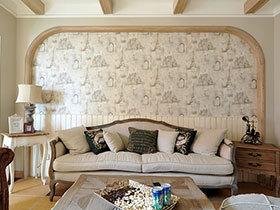 花色壁纸设计 17张田园沙发背景墙设计图