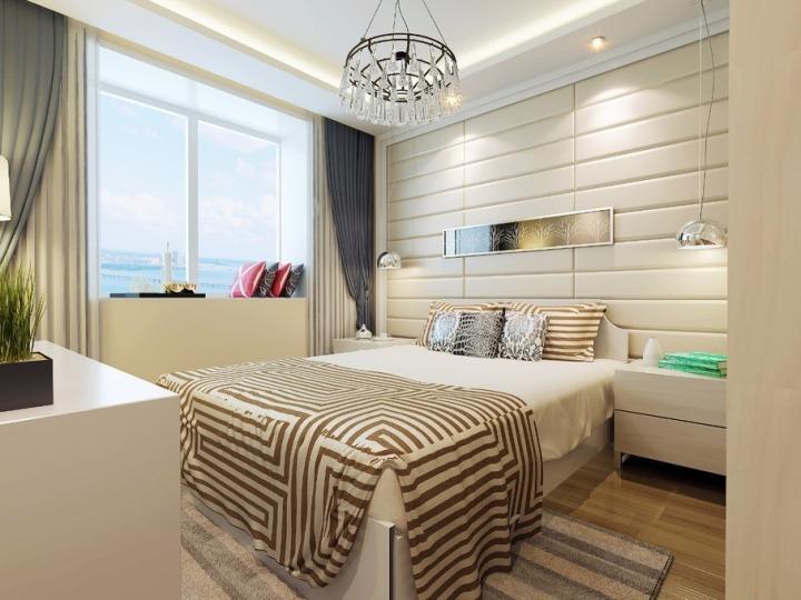 欧式风格舒适床头软包改造_齐家网装修效果图