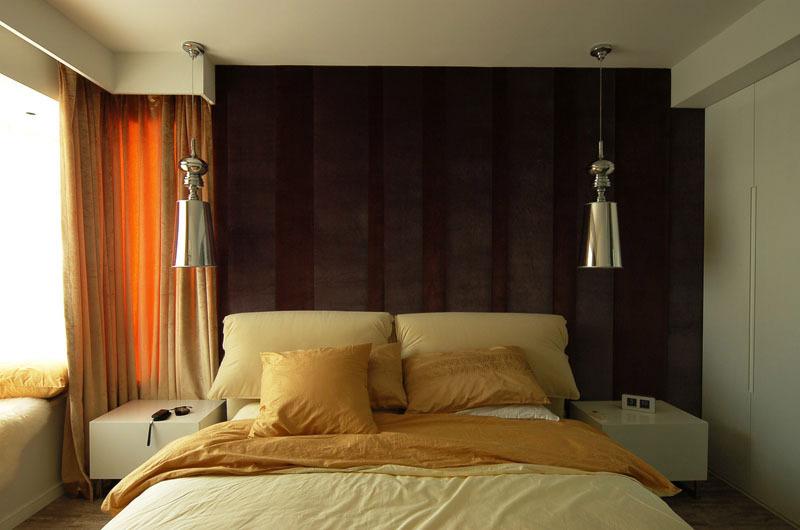 现代简约风格复式时尚黑色卧室装修