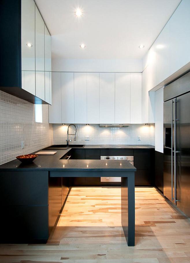 实用蓝色厨房设计图