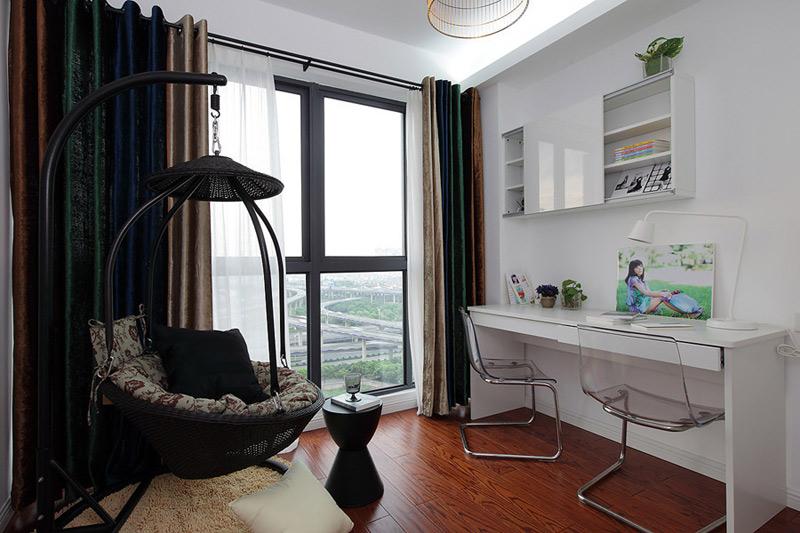 混搭风格二居室时尚效果图