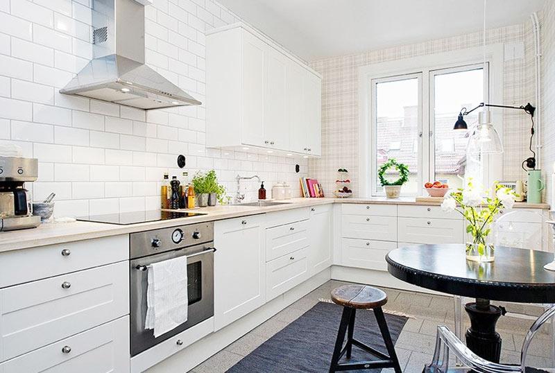 北欧风格简洁厨房瓷砖效果图图片