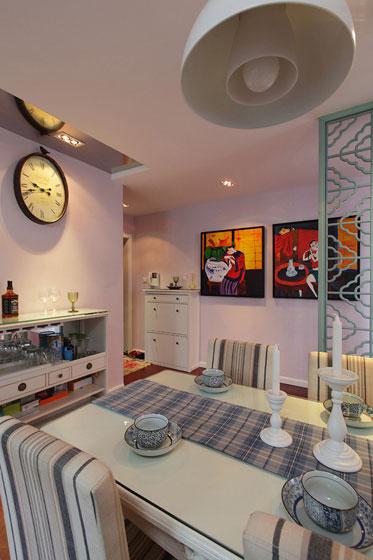 新古典风格三居室温馨100平米餐桌效果图