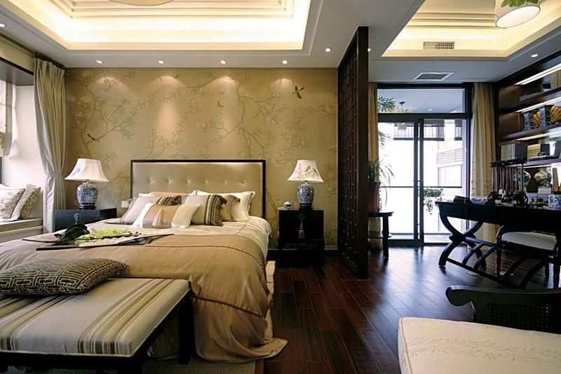 中式风格别墅古典黑色效果图