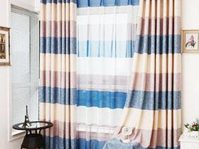 20款條紋窗簾圖片 遮陽裝飾兩不誤