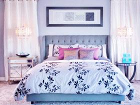 典雅欧式主卧床头背景墙设计图