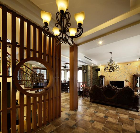 美式风格别墅奢华隔断装修效果图