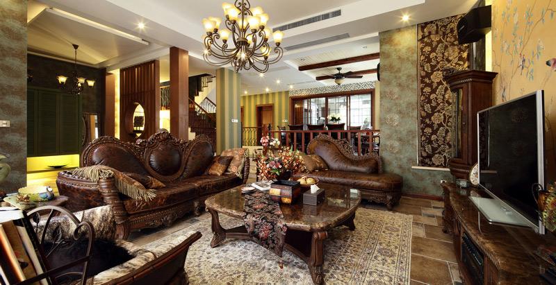 美式风格别墅奢华沙发图片