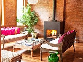 美式客廳地板 18圖上演大氣風格