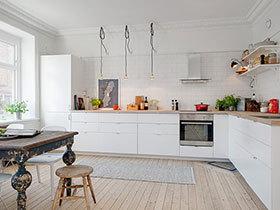 打造素色厨房 16张白色橱柜设计图