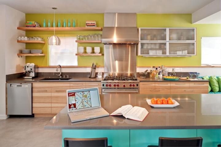 小清新厨房设计 15张彩色橱柜效果图