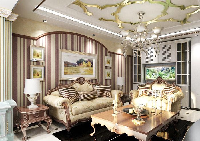 欧式风格大气客厅吊顶吊顶设计图