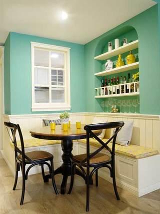 甜美铬绿色美式田园三居室 就喜欢这样清新的家3/5