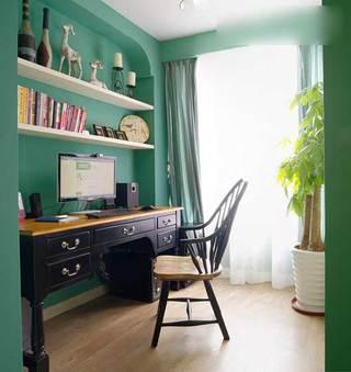 甜美铬绿色美式田园三居室 就喜欢这样清新的家4/5