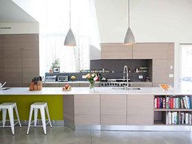 开放式厨房设计 18张一字型橱柜效果图