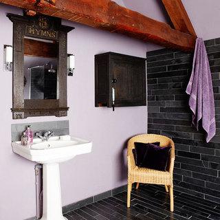 欧式风格简洁卫生间洗手台效果图