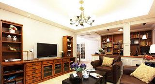 美式风格大气咖啡色电视柜效果图