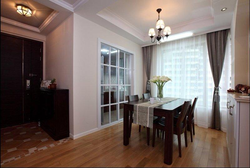 5-10万70平米美式二居室装修效果图,5万打造两房一厅