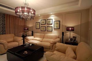 三居室浪漫10-15万客厅婚房家装图片