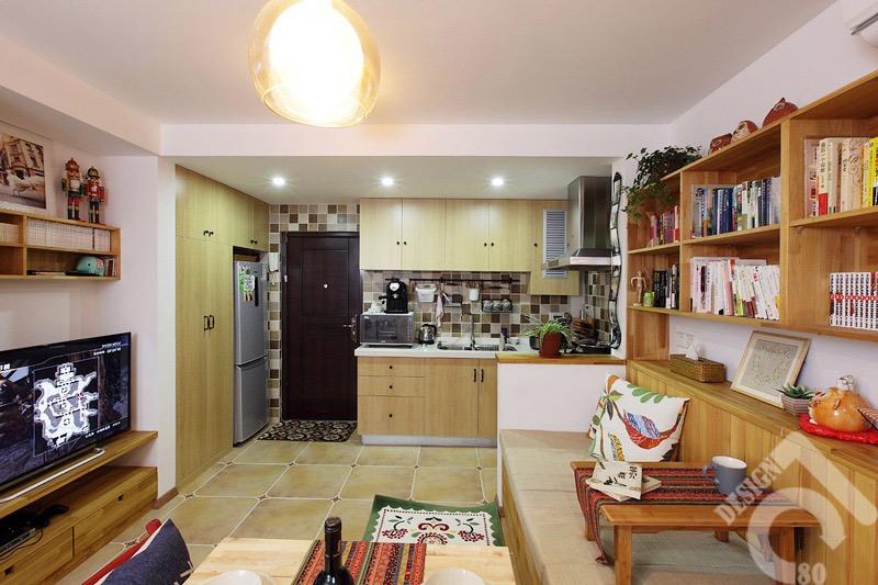 田园风格一居室3万-5万40平米装修效果图