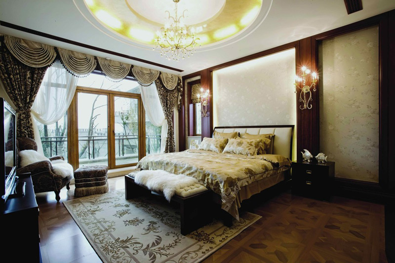 美式风格别墅奢华卧室设计图