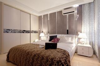 现代简约风格三居室时尚卧室效果图