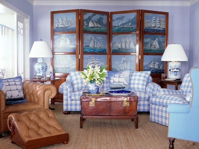 中式风格古典蓝色效果图