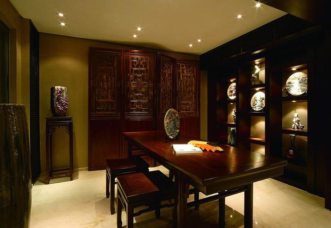 中式风格古典红色效果图
