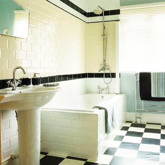 黑白卫生间瓷砖效果图图片