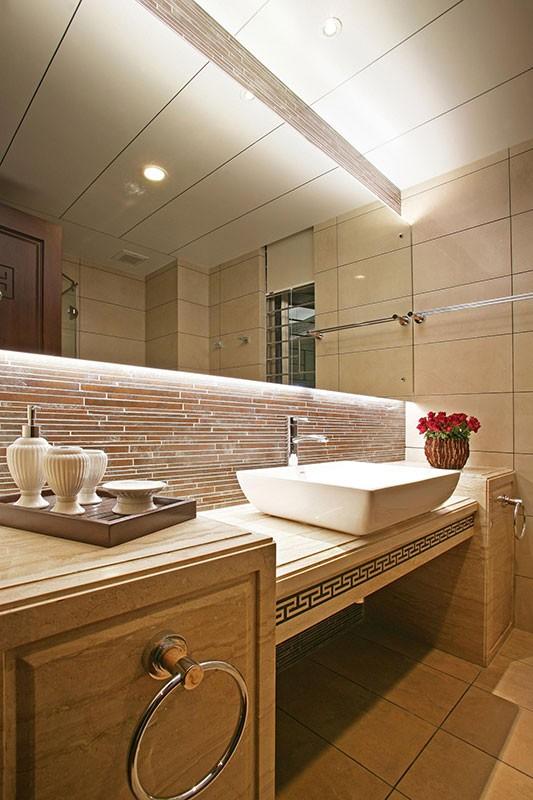方形台盆设计图 21款中式卫生间设计图片