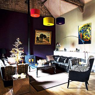 黑色客厅沙发沙发效果图