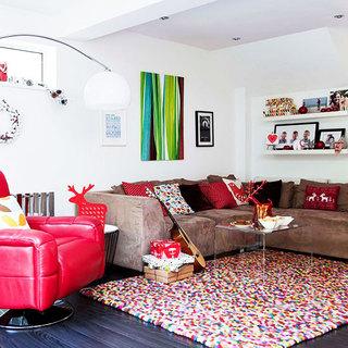 褐色客厅沙发沙发效果图