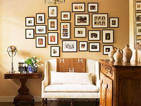 记录美好光影 24款客厅照片墙图片