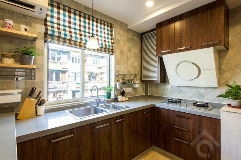 一居室小清新50平米厨房旧房改造平面图