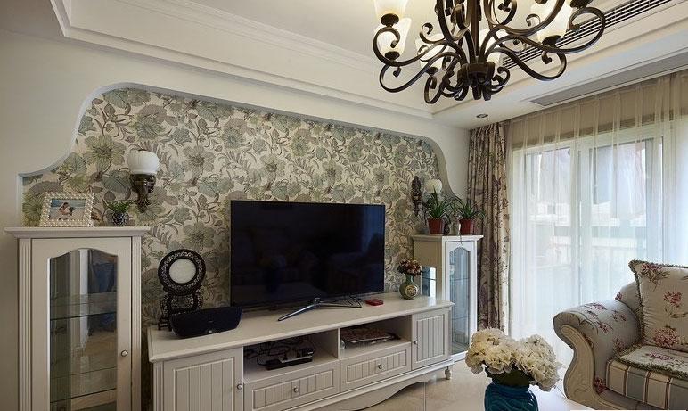 韩式风格小清新电视背景墙设计图