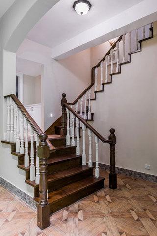 美式风格复式温馨楼梯设计图纸