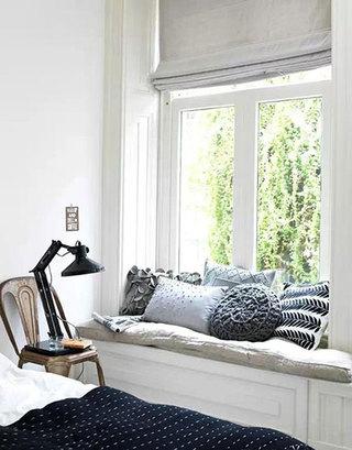 灰色卧室窗帘窗帘图片