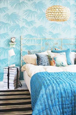 蓝色卧室壁纸壁纸图片