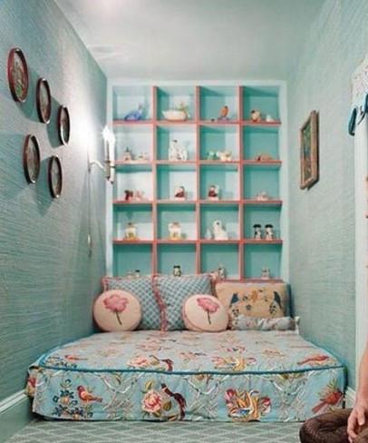 田园风格实用卧室背景墙设计图
