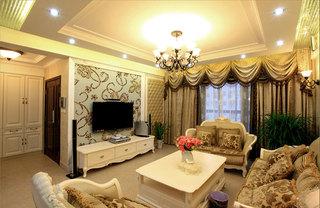田园风格三居室温馨客厅设计