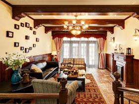 舊房改造 復古傳統美式鄉村三居設計