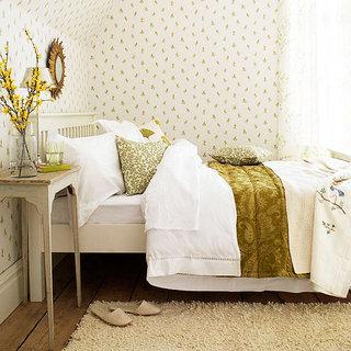 田园风格白色卧室窗帘窗帘效果图