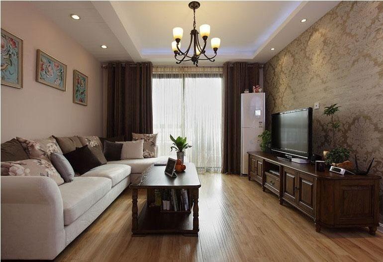 美式风格跃层简洁100平米客厅装修效果图