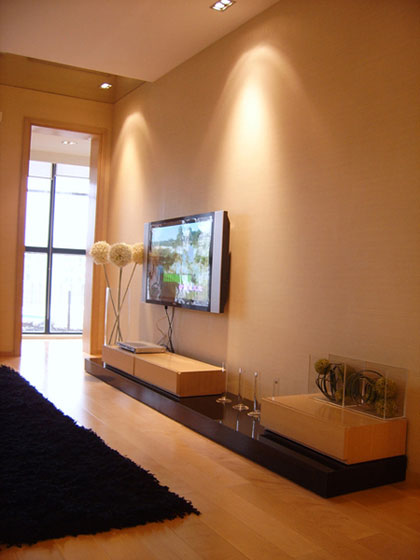 简约风格二居室温馨5-10万90平米电视背景墙装修效果图