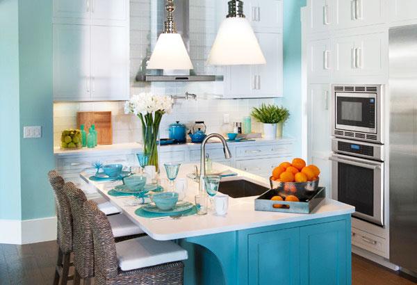 简洁白色厨房瓷砖图片