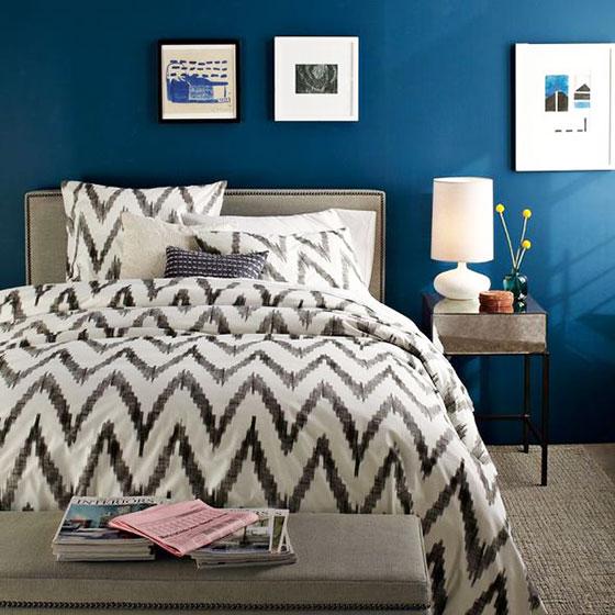 简洁卧室照片墙设计图