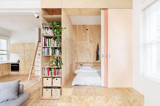 舒适原木色卧室地板效果图