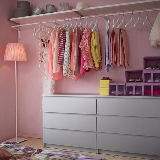 宜家风格实用衣柜安装图